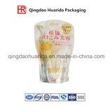 Sac décrit par impression personnalisé d'empaquetage en plastique pour le shampooing de colombe