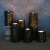 Kupferne metallische LED-flammenlose Kerze, batteriebetriebener Pfosten mit entfernter Station