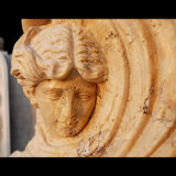 Scultura antica del travertino per la decorazione domestica Ms-463