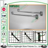 Gancho de leva durable del estante de visualización del metal para el supermercado y los departamentos