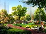 娯楽領域の景色の景色の団地3Dデザイン
