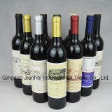 De verschillende Fles van het Glas van de Wijn van het Ontwerp en van de Capaciteit met Houten Deksels