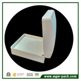 Caixa de jóia de couro plástica branca decorativa