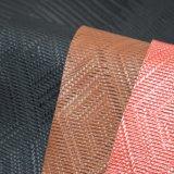 篭織模様袋のハンドバッグのための浮彫りにされた総合的なPUの革