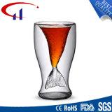 普及した魚の形のガラスティーカップ(CHT8625)