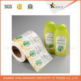 Escritura de la etiqueta impresa impermeable de la impresión de la etiqueta engomada de la botella del animal doméstico para el agua mineral