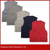 Тельняшки деятельности полиэфира хлопка оптовой продажи фабрики Гуанчжоу куртка дешевой Stock безрукавный (W94)