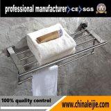 Fournisseur sanitaire de crémaillère d'essuie-main de double de fini de satin d'acier inoxydable