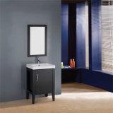Тщета ванной комнаты пола стоящая деревянная коммерчески изготовленный на заказ с зеркалом