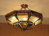 Kupferne hängende Lampe mit der dekorativen 19005 Anhänger-Glasbeleuchtung