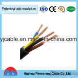 Изоляция PVC гибкия кабеля Rvv, провод 3 сердечников