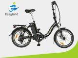 Easyland 리튬 건전지를 가진 20 인치 전기 접히는 자전거