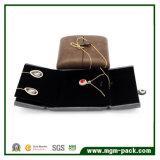Подгонянная коробка ювелирных изделий PU кожаный с двойником открытым