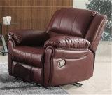 居間の本革のソファー(C872)