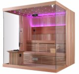 호화로운 작풍 단단한 나무 LED 라이트 터치 위원회 쉬운 임명 Sauna 집 (M-6042)