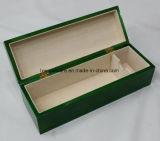 Коробка подарка упаковывать/представления вина зеленой высокой отделки лоска деревянная