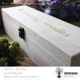 De Houten Doos van Hongdao, de Doos van het Hout van de Pijnboom met Douane Gegraveerd Embleem