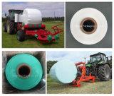 Película do envoltório do estiramento da ensilagem, largura 250, 500, cor de 750mm, de espessura 25um, de branco, preta e verde para a ensilagem do milho, da grama e da alfalfa