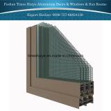 Foshan El mejor precio El último diseño de madera del grano de seguridad de aluminio ventanas interiores de aluminio ventanas de la sala de Windows