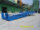 Rampe réglable d'embarcadère de hauteur portative