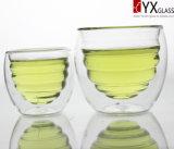 안 유리제 대원 또는 겹켜 유리제 컵 또는 두 배 벽 유리제를 가진 형식 디자인 두 배 벽 유리제 컵 차잔 100ml