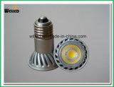 certificazione di RoHS del Ce della lampada E27 dell'indicatore luminoso del punto del riflettore JDR della PANNOCCHIA LED di 5W PAR16 con 400lm CRI80 per uso di modifica di Downlight