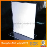 Transparent Brochure Menu Stand Acrylique PMMA Écran plastique Menu Support Plexiglas Support