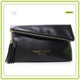 Migliore sacchetto di frizione nero pieghevole di vendita di marchio su ordinazione di Promntional
