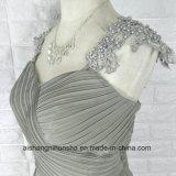 Le lacet Appliques robes Chiffon de demoiselle d'honneur de robe de chemises perlées de chapeau de longues