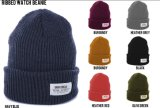 黒い帽子の帽子の編む帽子