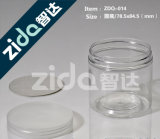 Food Grade Container Clear Candy Plastic Jar, Frasco de plástico