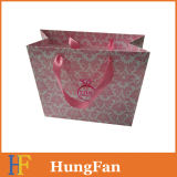 Pinky Printing Gift Paper Bag / Shopping Bag / Bolsa de papel de luxo com Silk Ribbion