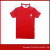 Camisas da impressão T da tela de seda da fábrica do OEM para a promoção com seu próprio logotipo (R72)