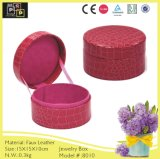 Color rosado Aduana-hizo Round Small Jewelry Box (8010R1)