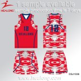 Basquetebol Sublimated forma Jersey do Sportswear de Healong