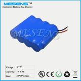 3.7V 10ah Li-Ionbatterie für Emergency LED-Taschenlampe/Hauptlampe