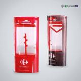 Boîte en plastique transparent en plastique pour vin et boissons
