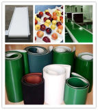 Ceinturer blanc vert de configuration de surface de diamant de bande de conveyeur d'unité centrale de PVC de bleu