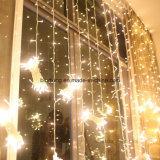 Indicatore luminoso di natale della tenda di finestra del LED per la decorazione di festa della stanza da bagno della casa di cerimonia nuziale