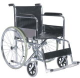 Aluminio silla de ruedas plegable con telón de fondo de la manija