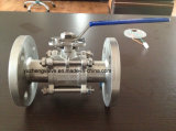 2PC фланцевый шаровой кран с ISO5211 монтажной площадки