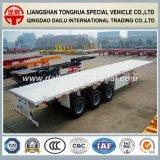 Del plano acoplado semi/acoplado del carro para el transporte de contenedores de los 40FT