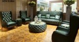 Klassisches antikes Chesterfield-ledernes Sofa-Set