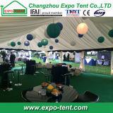Tente en aluminium de mariage de toit transparent avec des éclairages LED
