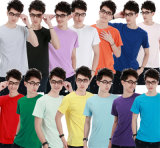 Round Neck Blank Comfortable Multicolor T-Shirt dell'uomo per Wholesale