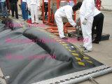 Venda por atacado de resistência a abrasão, suspensão de contenção de derramamento de óleo de PVC, barragem de borracha
