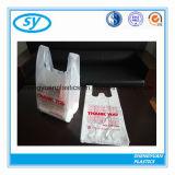 HDPE Virgin 쇼핑을%s 물자 플라스틱 t-셔츠 부대