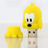 Platte-Tier USB-grelle Platte Pendrive Flash-Speicher des Karikatur USB-Blitz-Laufwerk-Hundefeder-Laufwerk-4GB 8GB 16GB 32GB 64GB U