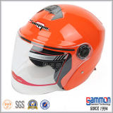Шлем мотовелосипеда/мотоцикла/самоката стороны холодной черноты открытый (OP229)
