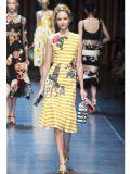 Entwerfer-Form kleidet Frauen-gedrucktes langes Partei-Blumenkleid